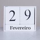 Calendário com a data 29 de fevereiro