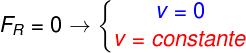Se a força resultante é nula, a velocidade do corpo é constante ou nula.