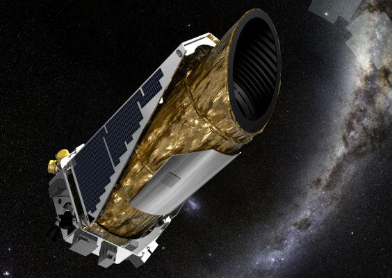 Arte conceitual da sonda Kepler, responsável por grande parte das descobertas de exoplanetas. [1]