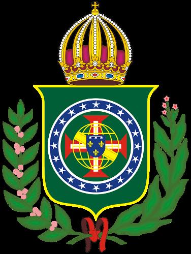 Brasão da Família Orleans e Bragança, que reivindica a retomada da monarquia no Brasil.