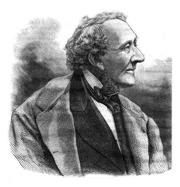 Escritor Hans Christian Andersen foi o autor de muitos contos de fadas conhecidos.