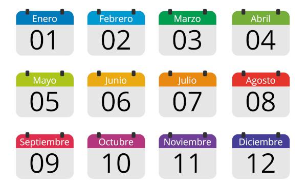 Os nomes dos meses del año são influência da mitologia romana.