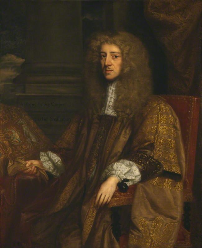 Anthony Ashley Cooper, o primeiro conde de Shaftesbury.