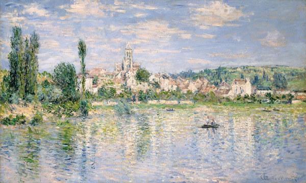 A pintura impressionista dialoga com o Simbolismo ao criar imagens menos nítidas, como em Vétheuil no verão (1880), de Claude Monet (1840-1926).