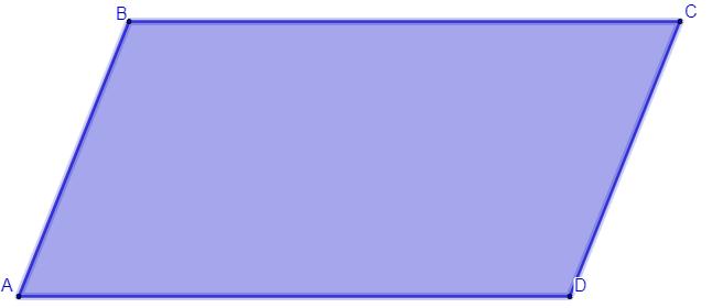 Nesse caso, os lados do paralelogramo são AB, BC, CD e AD. Além disso, AB // CD (lê-se: AB paralelo a CD), BC // AD.
