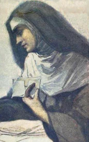 Soror Mariana Alcoforado, retratada na capa do livro Cartas de amor ao cavaleiro de Chamilly (1914).