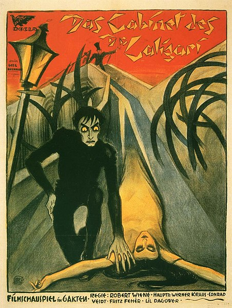 Pôster do filme O gabinete do Dr. Caligari, de Robert Wiene.