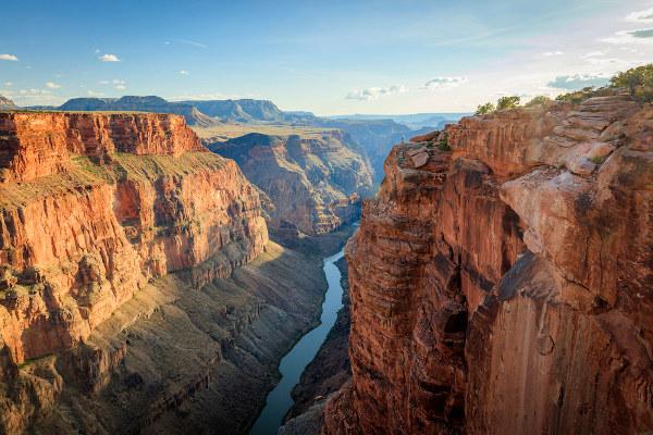 Grand Canyon, Arizona, EUA. Exemplo de erosão fluvial.
