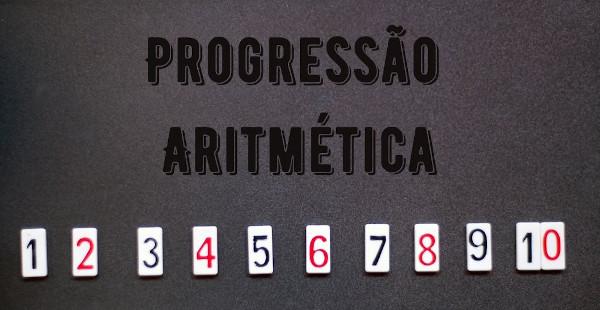 A sequência de 1 até 10 é uma progressão aritmética de razão 1.