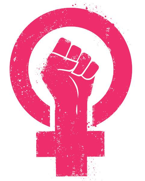 A luta feminista busca a equidade de gênero.