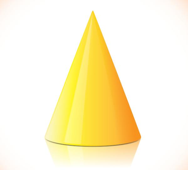 O cone é um sólido de revolução.
