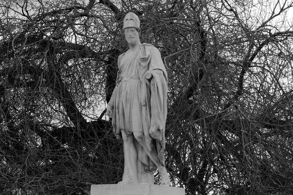 Péricles foi um governante de Atenas no século V a.C., e credita-se a ele um período de grande desenvolvimento econômico e cultural na cidade.[1]