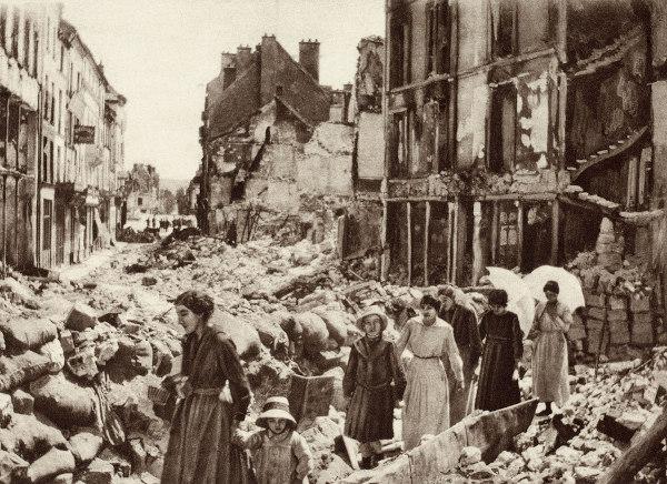 Primeira Guerra Mundial, França, 1918.