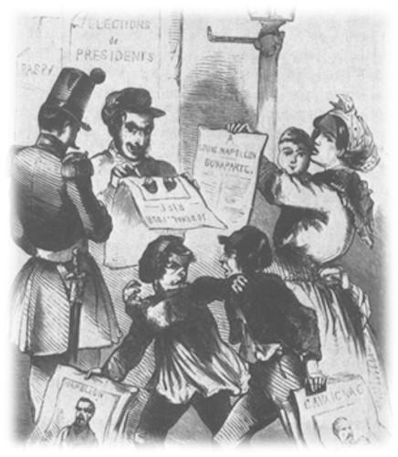 Sufrágio universal masculino, liberdade de imprensa, liberdade de associação e direito ao trabalho são valores da Revolução Francesa.