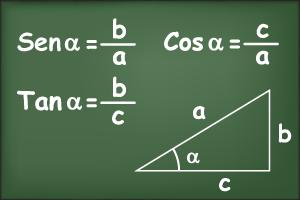 Razões trigonométricas no triângulo retângulo.