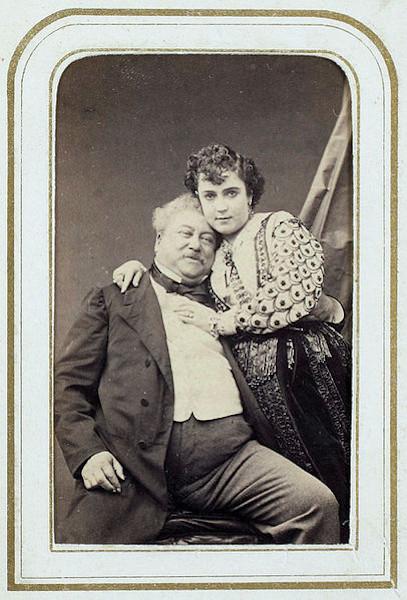 Alexandre Dumas e Adah Menken.