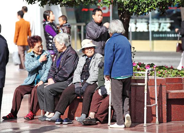 Grupo de idosas chinesas em Xangai. [1]
