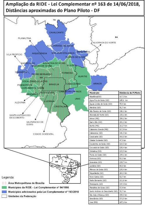 Fonte: Companhia de Planejamento do Distrito Federal (Codeplan).