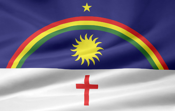 A bandeira tornou-se um dos símbolos da Revolução Pernambucana de 1817.