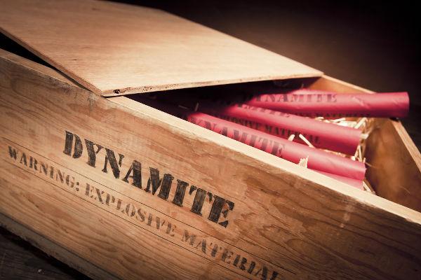 A dinamite, criada em 1867, foi uma das grandes invenções de Alfred Nobel.