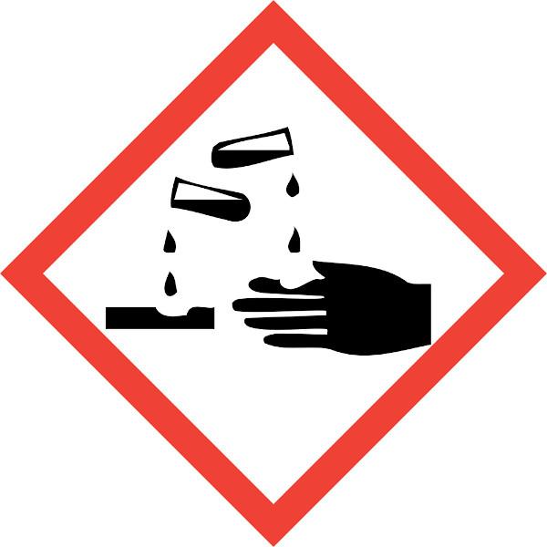 O ácido clorídrico é uma substância perigosa devido ao seu alto poder corrosivo.