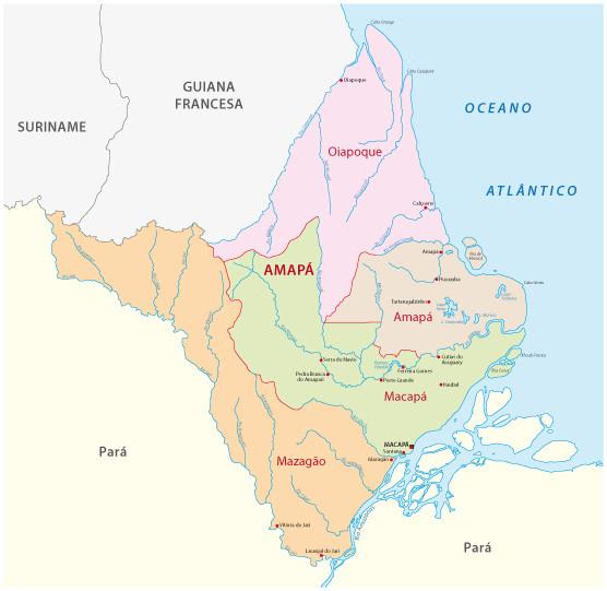 Divisão do estado do Amapá.