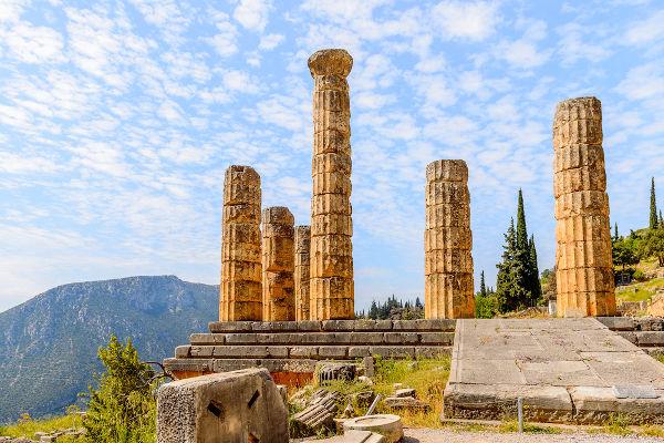 Templo construído em homenagem a Apolo na ilha grega de Delos.