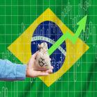 gráfico e bandeira do Brasil