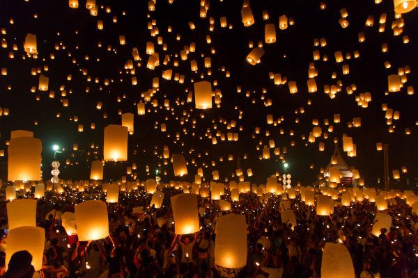 No 15º dia da celebração do Ano-Novo chinês, realiza-se o Festival da Lanterna.