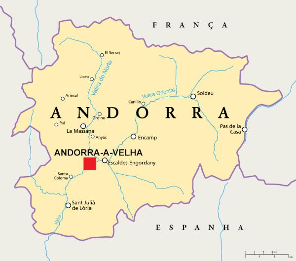 Localização de Andorra.