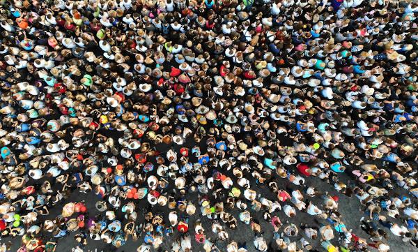 A população mundial aumentou consideravelmente no século XX.