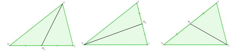 Medianas do triângulo