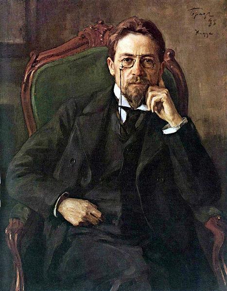 Retrato de Anton Tchekhov, obra de Osip Braz (1872-1936).