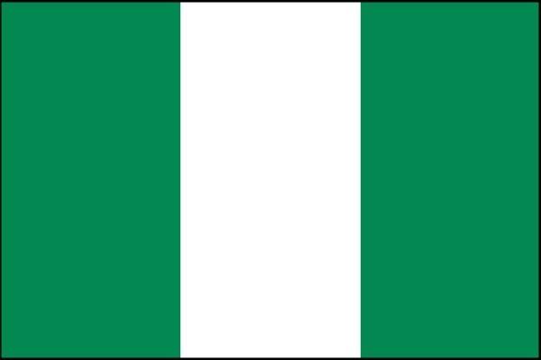 Bandeira nigeriana.