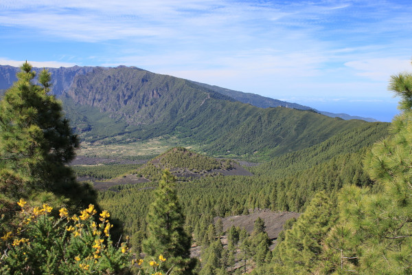 Vista do Cumbre Vieja, nas Ilhas Canárias.
