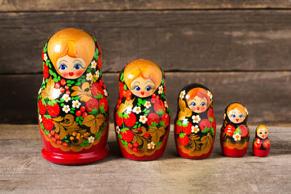 As matrioshkas se tornaram um dos mais conhecidos elementos culturais da Rússia.