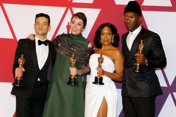 O Oscar de 2019 premiou atores como Rami Malek e Olivia Colman nas categorias de Melhor Ator e Melhor Atriz. Green Book ganhou como Melhor Filme.[3]