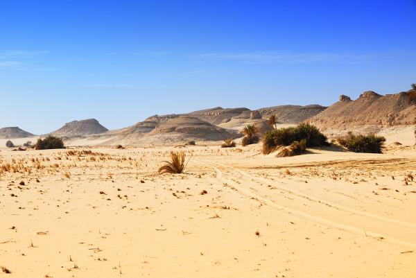 Imagem de uma parcela egípcia do deserto do Saara.