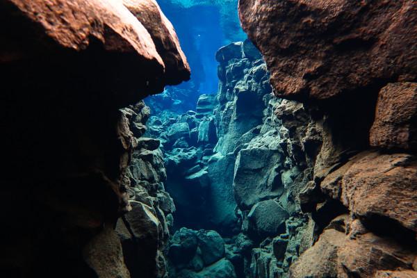 Rochas vulcânicas do Atlântico Norte, na Islândia.
