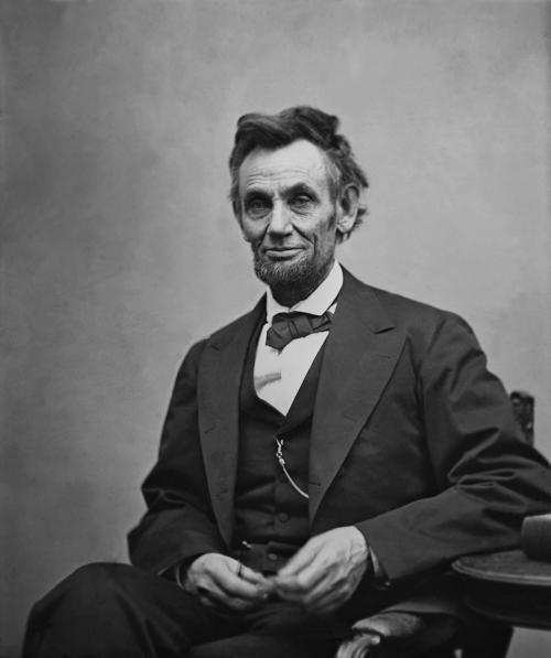 Foto do ex-presidente estadunidense Abrahan Lincoln.