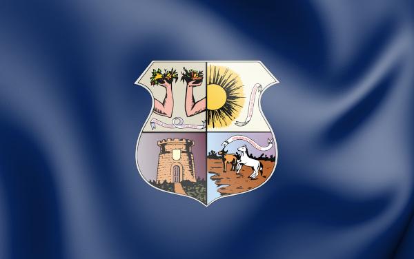 Bandeira da cidade de Belém, capital do estado do Pará.