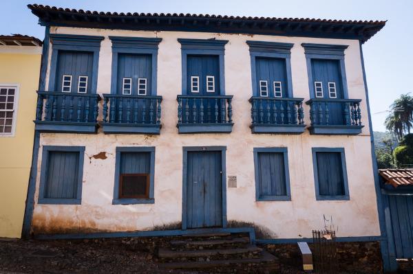Foto da casa onde morou Borba Gato quando era administrador das minas na vila de Sabará.