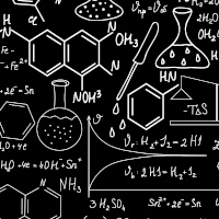 quadro negro com fórmulas químicas