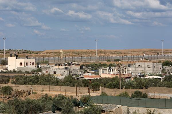 Construção de um muro entre a Faixa de Gaza e o Egito.
