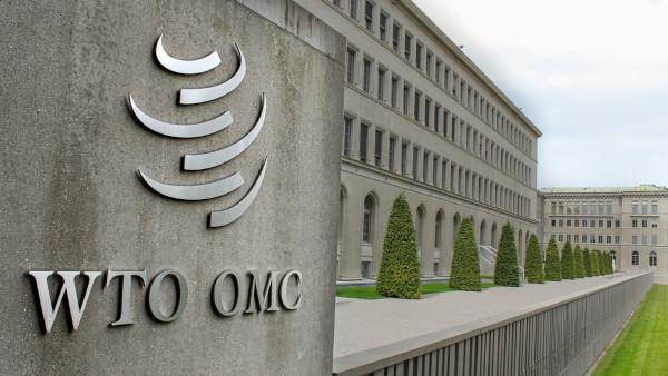 Fachada da sede da OMC, Suíça.