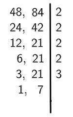 Algoritmo do MMC divisão dos fatores por 3.