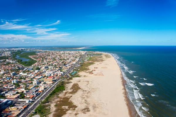 Vista parcial do município de Aracaju, capital do Sergipe.