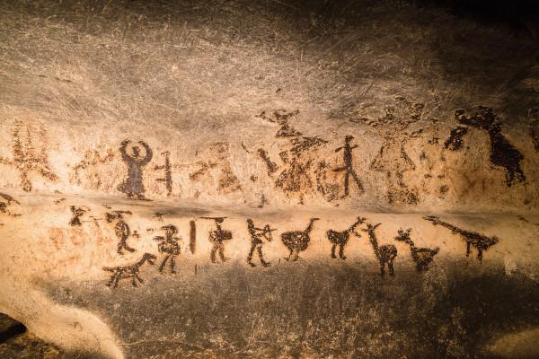 Imagem de arte rupestre.