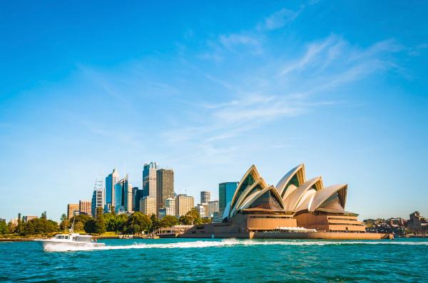 Vista da Austrália.