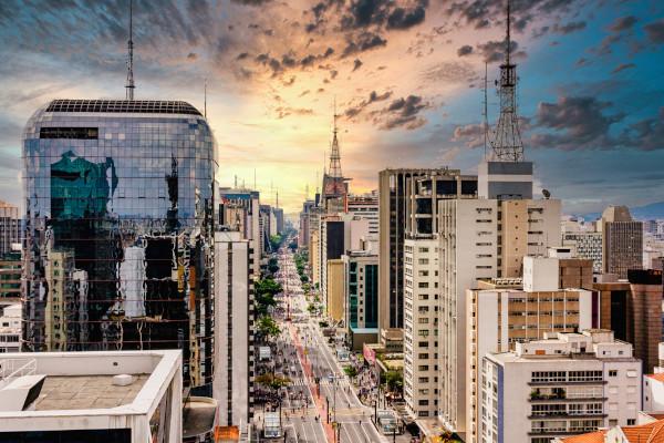 Vista da Avenida Paulista em São Paulo capital.
